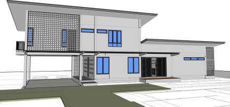 sketch design of house,vector - Vector