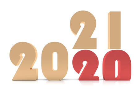New Year 2021 , 3d rendering