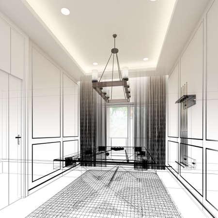 snooker room interior design. 3d rendering Zdjęcie Seryjne