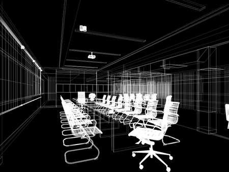 3d rendering of interior conference room