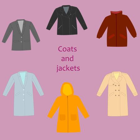 Set of woman coats and jacket