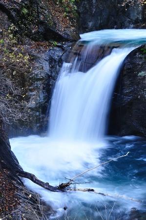 ravine: Nishizawa ravine ryujin fall waterfall