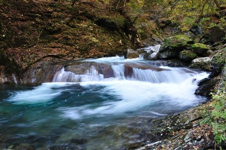 Nishizawa ravine fall Stock Photo