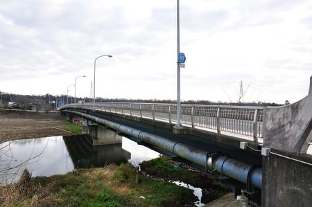 100-year-old detached bridge of
