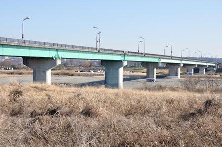 depends: Seat frame depends bridge over the Sagami River