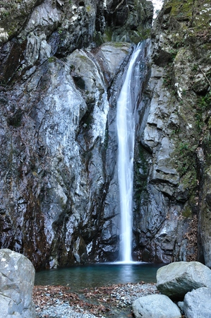 icefall: Waterfalls of ebirah Stock Photo