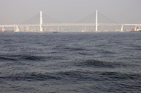 bay bridge: Yokohama Bay Bridge Stock Photo