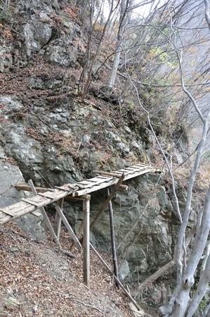 evangelism: Old bridge over the cliff