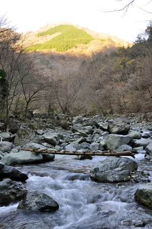 evangelism: The morning of the Hayato River Stock Photo