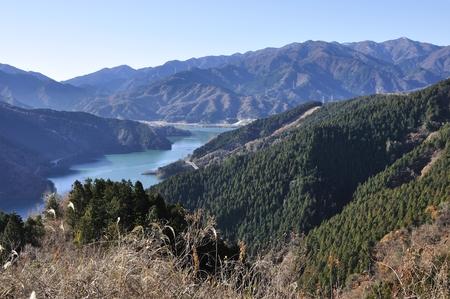 Tanzawa mountains and Lake miyagase Stock Photo