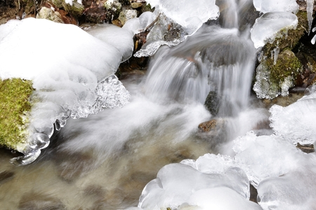 One of freezing of Segawa Stock Photo