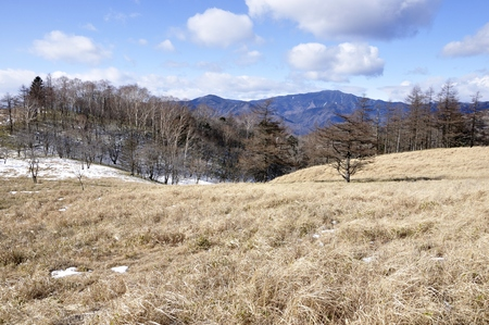 Okuchichibu mountains dry Tokuyama and Black Mountain
