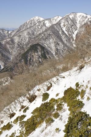 Mount Hiru where snow and tanazawa, head and fixed-peak