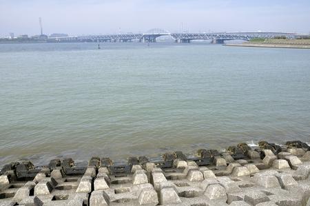Arakawa River Stock Photo