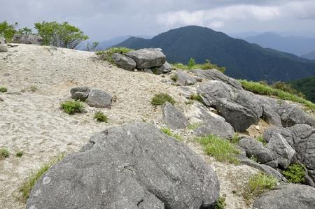 Wild goose month belly sliding mountain from shiratani round gazebo