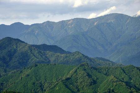 Than the temporal peak Tower, from Mt. tanzawa mountain ridges. Stock Photo