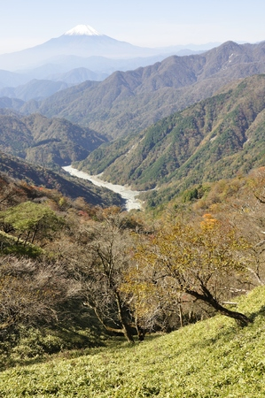 Autumn tanzawa mountains Shin Valley and Mt. Fuji