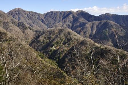 Ishiyama high from the tanzawa mother lode in late autumn. Reklamní fotografie