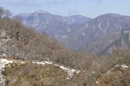 Snow mountainous tanzawa Stock Photo