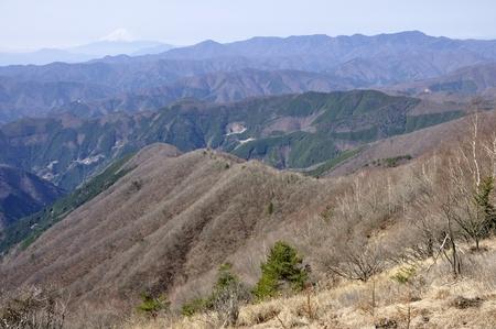 Hawk-Suyama from Mt. Fuji and the great bodhisattva-Ridge