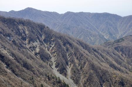 Tower Nobori hoping from Hikigatake and Nababiriyama ridge Stok Fotoğraf