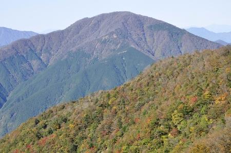 Tanzawa mountains in autumn and Omuroyama