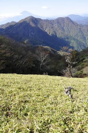 Hirugatake Sasahara, Nishi Tanzawa and Mt. Fuji 免版税图像