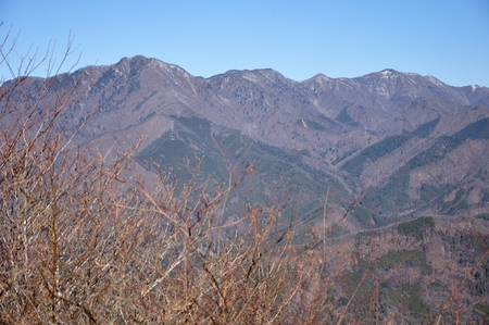 Koganezawa-Ridge in early winter