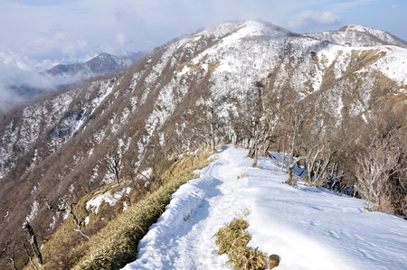 View from the trail of Mt. tanzawa, Japan