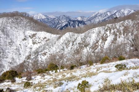 Views of tanzawa mountains snow
