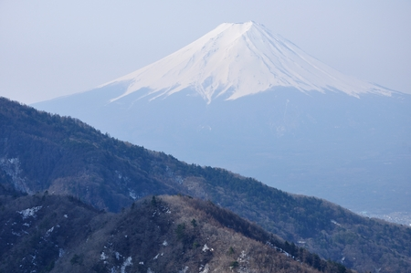 Mt. Fuji from the headquarters locations round Stock Photo