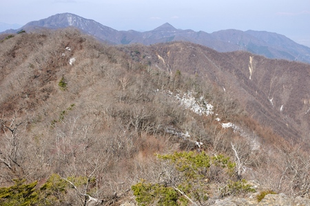 Views of the misaka mountains in the West than headquarters locations round Stock Photo