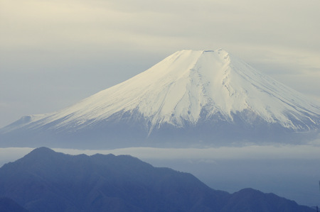Mt. Fuji view on a winter morning