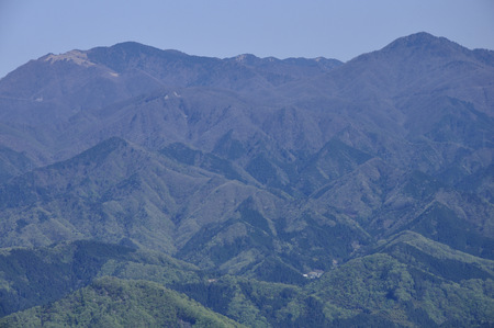 Koganezawa-Ridge view from Kuki mountain 写真素材