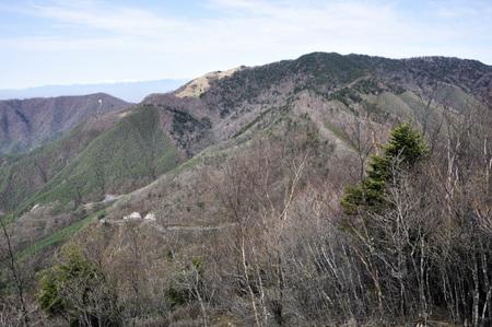 Koganezawa-Ridge view from wild goose month belly sliding mountain