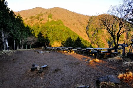 Tanzawa-ji Japan's 300 Most Famous Mountains Morning Glow Daisen 스톡 콘텐츠