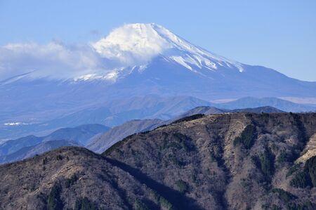 Mt. Fuji seen from the Great Mountain in Tanzawa-ji