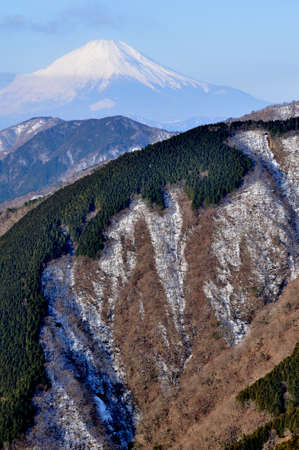 Mt. Fuji in winter from Tanzawa