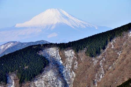 View from Tanzawa Omoyone Mt. Fuji from Mt. Gosha