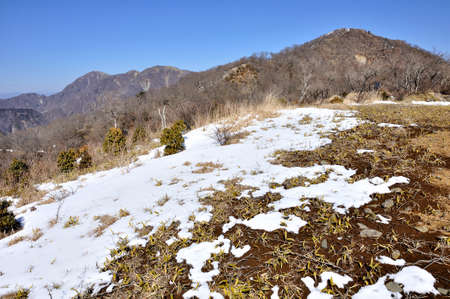 Mt. Tono and Mt. Tanzawa in winter