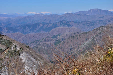 View from Mt. Nabewari in the Southern Alps and Doshiyama Nkchi Tanzawa area in winter