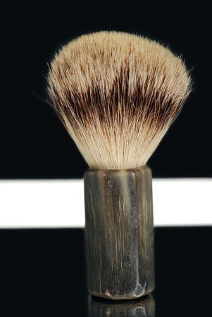 masculin: Shaving Brush Stock Photo