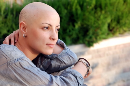 cancer: Cancer survivor with positive attitude