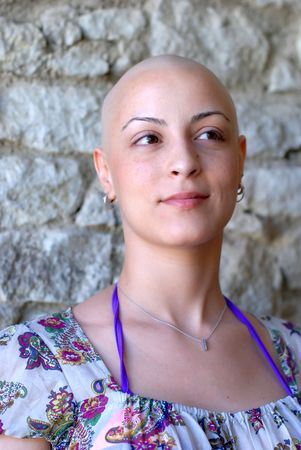 Cancer patient with positive attitude  photo