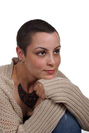 actitud positiva: Sobreviviente de c�ncer de mama con actitud positiva