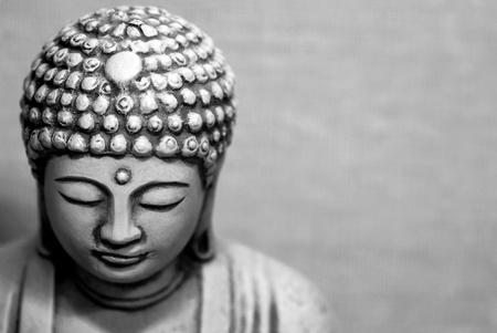 emanation: Portrait of Buddha Statue, Black and White Shot