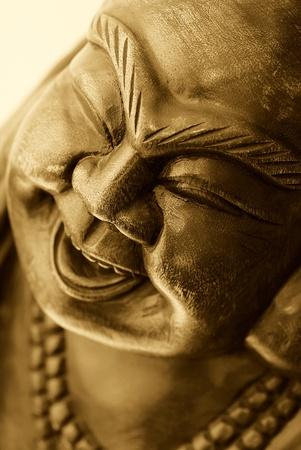 Portrait of Golden Buddha statue photo