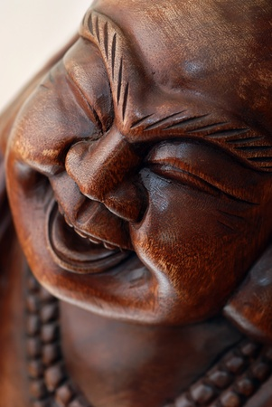 Portrait of Wooden Buddha statue Stock Photo - 9357508