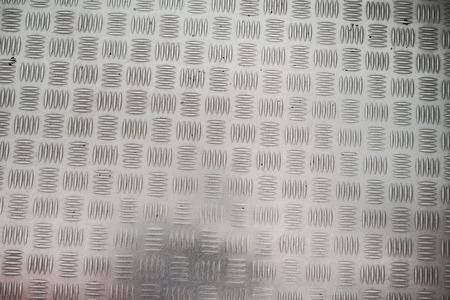 Aluminum with non-slip pattern.