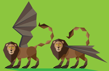 Manticore illustratiorn Vector